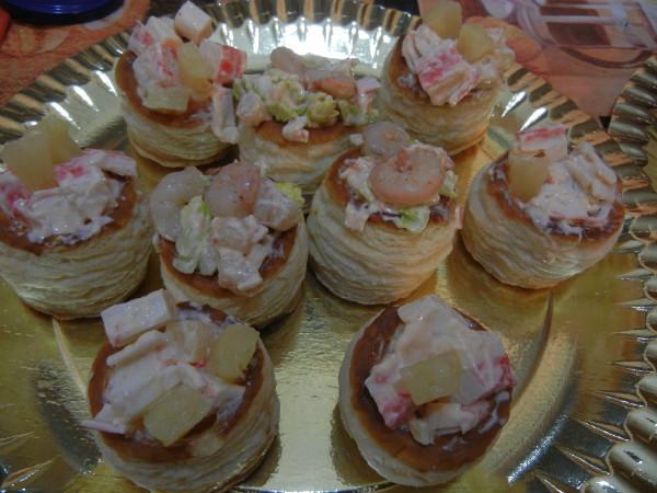 Volovanes rellenos de coctel de marisco recet zate - Coctel de marisco ingredientes ...