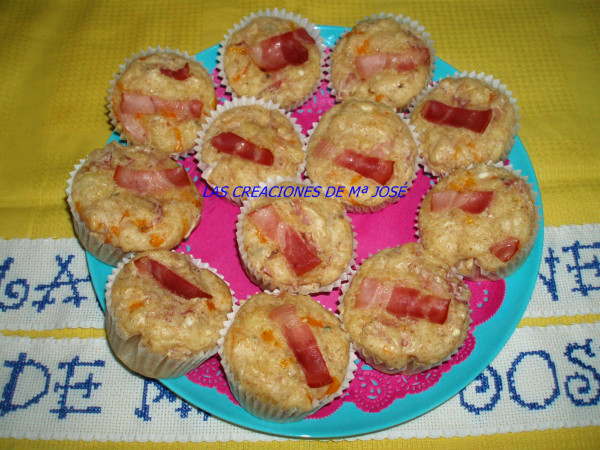 CUPCAKE DE BACON Y QUESO