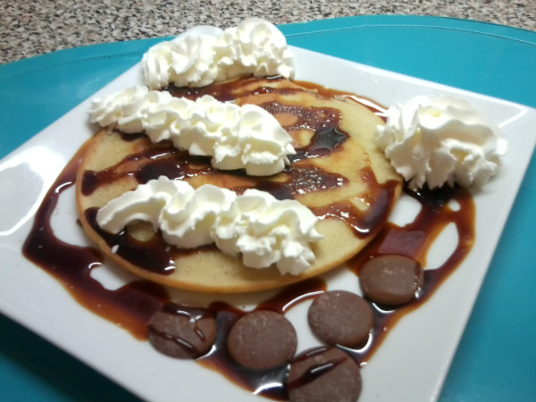 TORTITAS CON CHOCOLATE