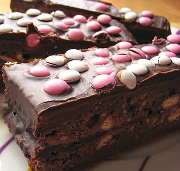 Brownie con Lacasitos