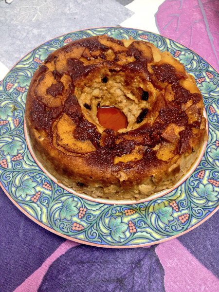 Apple puddin: Con nueces y chocolate