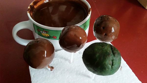 CAKEPOPS DE AFTER EIGHT AL MICROONADAS