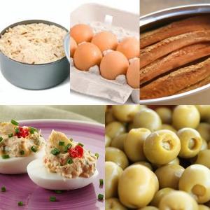 receta HUEVOS RELLENOS DE ATUN