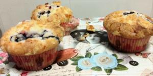receta Muffins de arándanos y limón