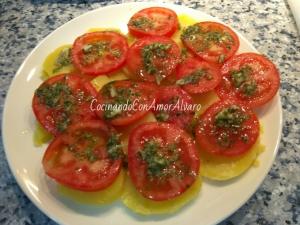 receta Ensalada de Patata y Tomate Natural