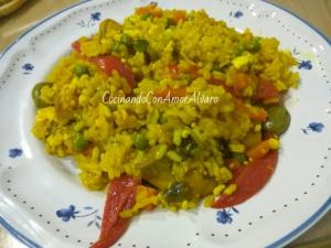 receta Paella de Pollo y Verduras
