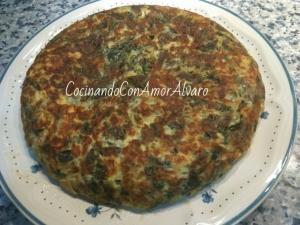 receta Tortilla de Espinacas