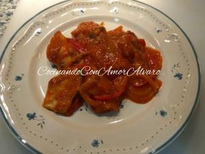 receta Bacalao a la Riojana